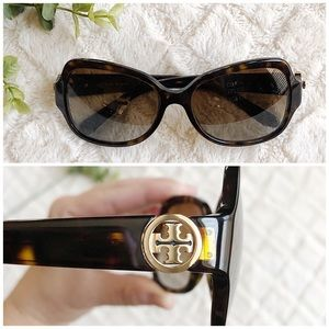 TORY BURCH Tortoise Polarized Sunglasses